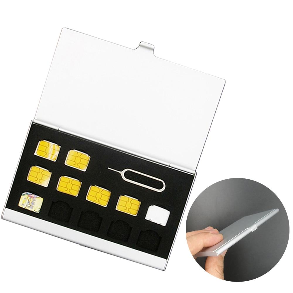 Aluminum SD Card Box Memory SIM Card Box Nano Card Package Storage For Apple Samsung 56 Mobile Phone Box