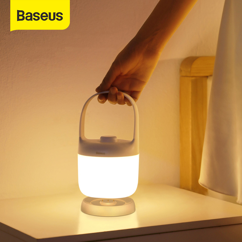 Baseus Dimmable LED Night Light Portable USB Rechargeable Lamp Reading Night Light LED Table Lamp For Children Bedside Outdoor