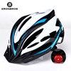 Bicicleta de montanha capacete com luz led vermelho e viseira de sol das mulheres dos homens leve estrada ciclismo capacete da bicicleta esportes equipamentos 15