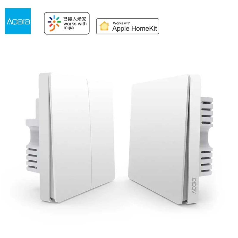Aqara D1 Wall Switch ZigBee Smart Zero Line Fire Wire Light Wall Switch No Neutral Remote Control Wireless Work For Mi Homekit