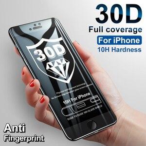 Image 2 - 30D غطاء كامل واقية الزجاج على آيفون 8 6 6s 7 Plus SE حامي الشاشة آيفون 11 برو ماكس الزجاج المقسى على Xr X Xs ماكس
