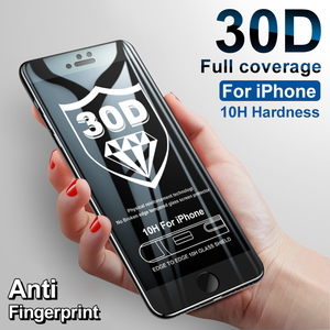 Image 2 - 30D フルカバー保護ガラス iphone 5 8 6 6s 7 プラス se スクリーンプロテクター iphone 11 プロ最大強化ガラス xr x xs 最大