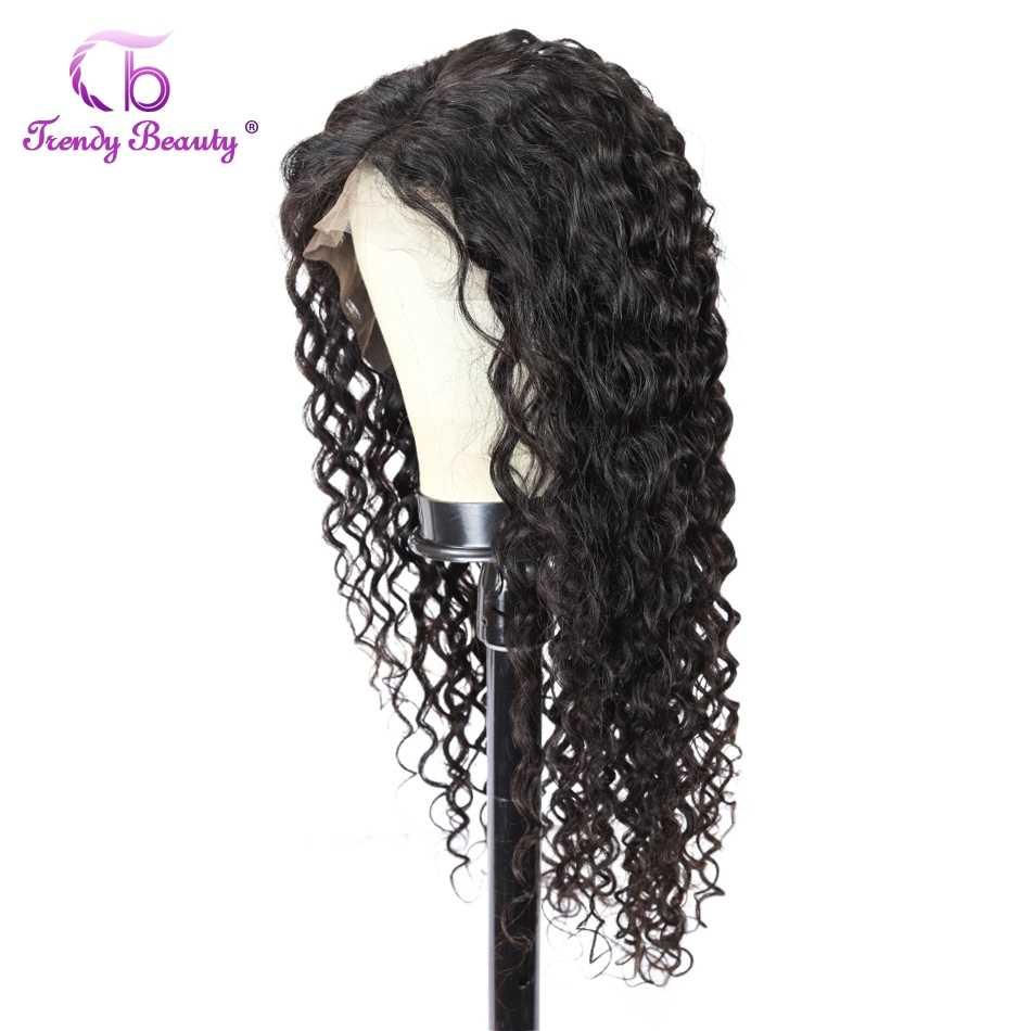 Brasilianische Wasser Welle Perücke 13*4 Spitze Front Menschliches Haar Perücken Pre Gezupft Menschenhaar Perücke Für Schwarze Frauen