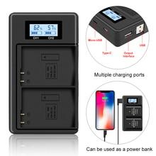 Зарядное устройство USB с ЖК дисплеем для Nikon EN EL14 D5600 D3400 D3300 D3200 D3100 D5100 D5500 D5200 D5300 P7800