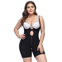Women Plus size 5XL Shapewear Slimming waist trainer Tummy Control Open Bust Bodysuit Postpartum Recover Underwear Corset Butt