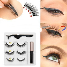 Get more info on the Makeup Magnetic Liquid Eyeliner Magnetic False Eyelashes Tweezer Set Waterproof Natural Fake Eye Lashes Extension Supplies Tools