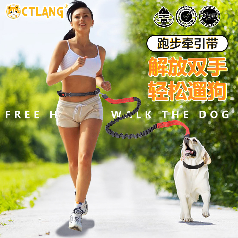 New Style Abdominal Exercising Band Nylon Dog Rope Sports Pet Supplies Dog Traction Rope Running Reflective Hand Holding Rope