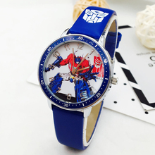 Hot Sale Fashion Kids Watches Boys Cartoon Transformers Sports Quartz