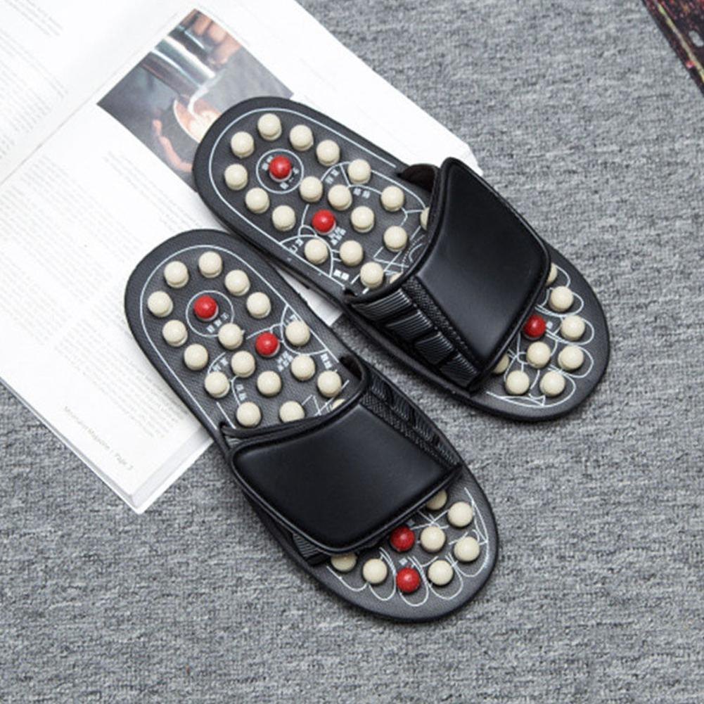 One Pair Foot Massage Shoes Man And Women Rotating Acupuncture Foot Sandals Healthy Reflex Relaxation Stress Slipper K4U3