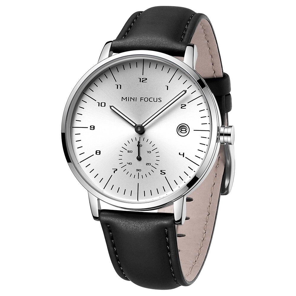 MINI FOCUS 2020 nouvelle mode hommes montres haut de gamme de luxe Simple Quartz montre-bracelet hommes étanche bracelet en cuir Relogio Hombre