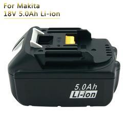 Akumulator litowo-jonowy 18V 5A akumulatorki zamienne do elektronarzędzi Makita 18V BL1850 BL1840 BL1860 BL1830 LXT400