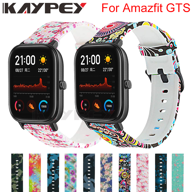 Camouflage Flower Soft Silicone Strap For Xiaomi Amazfit GTS Smart Wristband For Huami Amazfit GTR 42mm Wrist Strap Bracelet