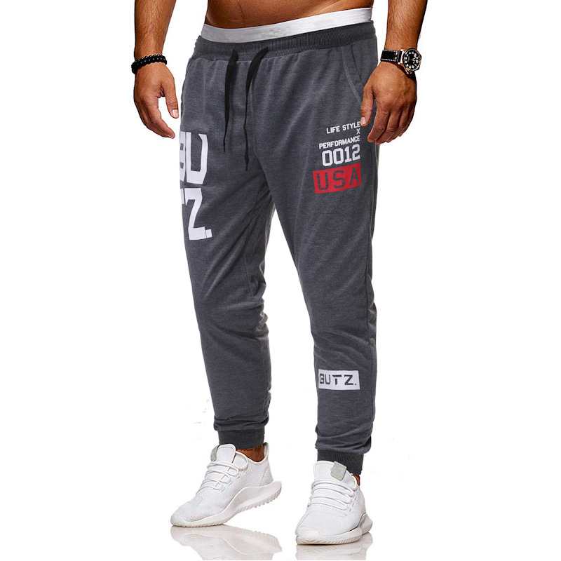 New Men Brand Joggers Pant Comfortable Soft Letter Print Sweatpants Male Loose Casual Cotton Trousers Tracksuit Bottoms Pants
