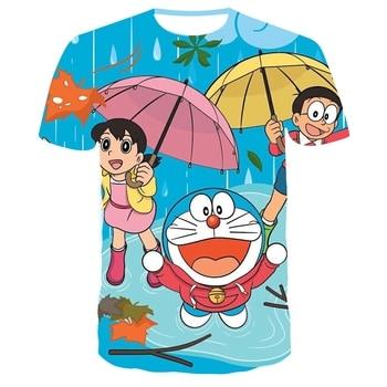 Doraemon Anime 3D Printed T Shirt Summer Men Women Tshirt harajuku T-shirt oversized t shirt Children Tee Short Sleeve fashion japanese anime tshirt print oversized t shirt women tops short sleeve vogue summer t shirt female harajuku loose tee