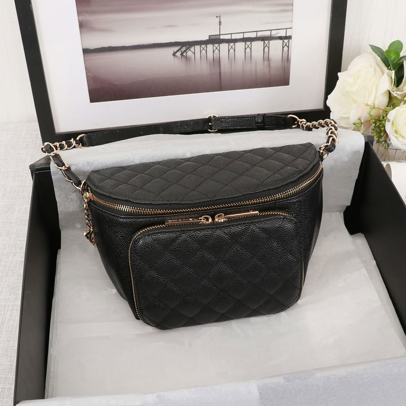 High Quality Women Real Leather Waist Bags New Luxury Designer Bags Famous Fashion Chest Bag Free Shipping Shoulder Messenger