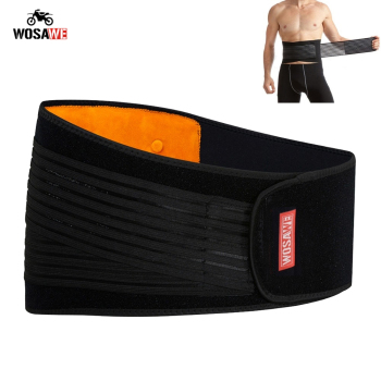 WOSAWE Motorcycle Back Support Double Adjust Waist Support Lumbar Brace Belt Slimming Bodybuilding Gym Fitness Belt