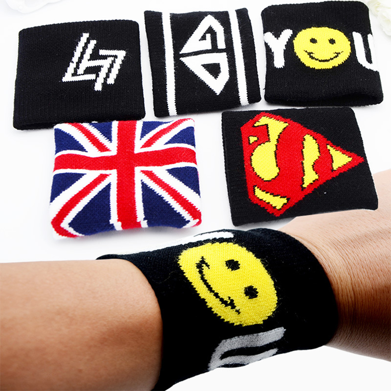 2 pcs cotton Nadal wristband sport sweatband hand band for gym volleyball tennis sweat wrist support wraps guard
