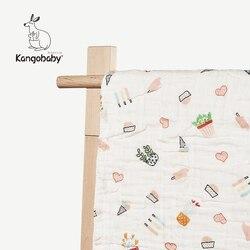 Kangbaby/1 предмет, детское 100% хлопковое 6-слойное облегающее одеяло, супер мягкое Тюлевое Пеленальное детское полотенце для коляски, детское ба...