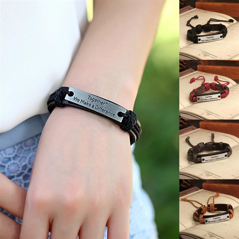 New Hot Bracelet Handmade Braid Genuine Leather bracelet For Women Men Jewelry Wrap Charm Cross Bracelets Punk Vintage Jewelry