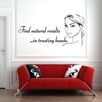 Spa salon Wall Decals Beauty Salon Woman Face Facials Skincare Quote Wall Sticker Vinyl Removable Beauty Shop Decor Mural Z770 1