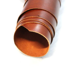 Baver Color Full Grain Cowhide Genuine Vegetable Tanned Leather Craft Material Glossy Surface Umber Color