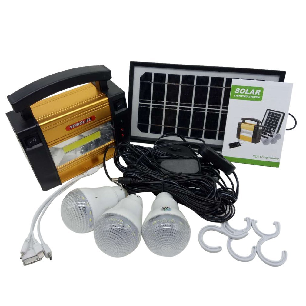 Portable Size Solar Panel Storage Power Generator Home Outdoor Camping Power System Generator For LED Bulbs