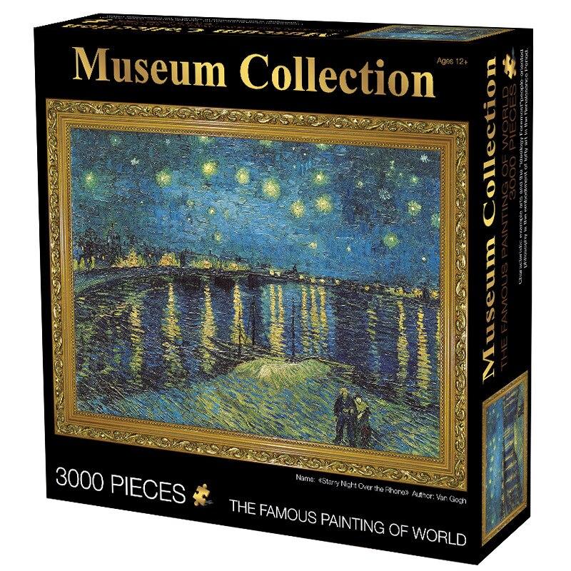 Puzzle 3000 pièces adulte mondialement célèbre nuit étoilée plus épais puzzle peinture à l'huile adulte shapeng Puzzle enfants jouets - 5