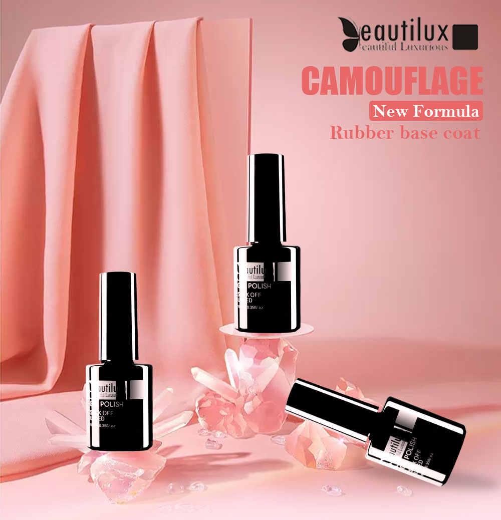 Beautilux Camouflage Gummi Basis Mantel Gel Milchig Weiß Nude Rosa Beige Gele Nagellack Semi Permanent Nägel Ridge Füllstoff 10ml