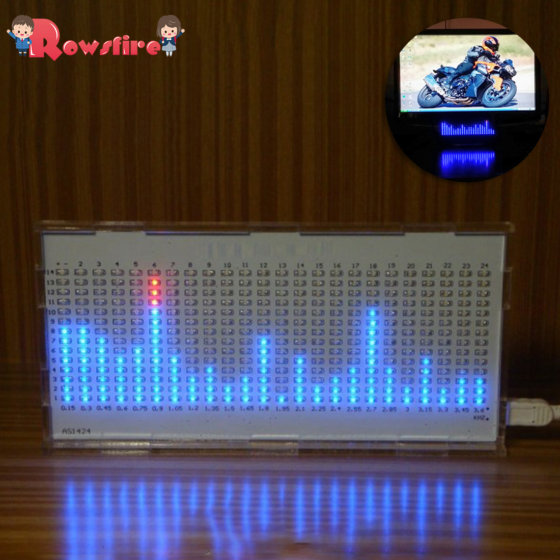 DIY Light Cube Kit AS1424 Music Spectrum LED Display Audio Amplifier Modification Rhythm Lamp - Bulk Parts White