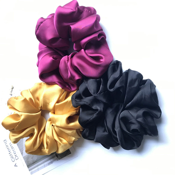 Oversized Scrunchies Big Rubber Hair Ties Elastic Hair Bands Girs Ponytail Holder Smooth Satin Scrunchie Women Hair Accessories 3
