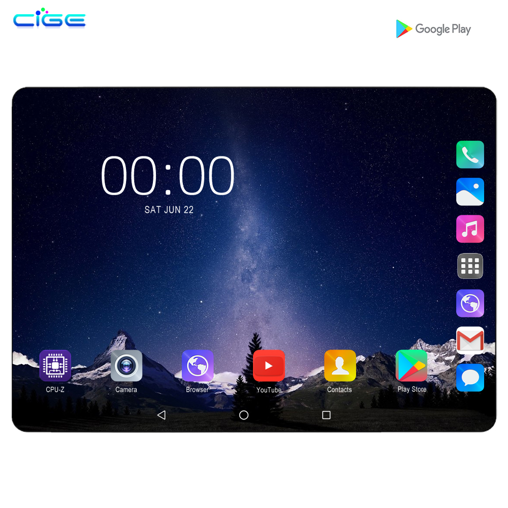10.1 Inch Tablet PC 3G/4G Android 9.0 Octa Core Super Tablets Ram 6G Ram+128G Rom WiFi GPS 10 IPS 1280*800 Dual SIM Phone Call