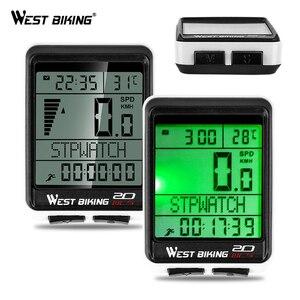 Image 1 - WEST BIKING Waterproof 5 Language Bicycle Computer Wireless Cycling Odometer MTB Bike Stopwatch Watch LED Screen Speedometer