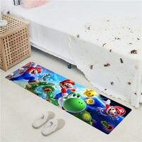 Super Mario Bros Long Floor Mats Entrance Door Mat PVC Soft Bathroom Rugs Outdoor Bedroom Doormat Kitchen Carpet Bed Front Rug