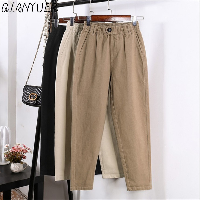 2020 Ladies New Spring And Autumn Harem Pants Spring And Autumn Workwear Casual Pants Fashion Hip Hop Nine Pants