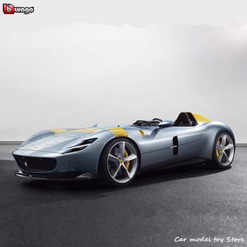 Bburago 1:18 Ferrari Monza SP1 Roadster Car Static Simulation Diecast Alloy Model Car Toy collection gift new year gift lp770 upgrade package 1 18 metal model car collection toys luxury diecast decoration alloy metal static present