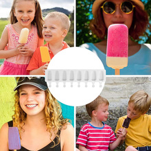 Ice Cream Mold 1PC DIY Ice Cube Tray 8 Cell Dessert Candy Pot Big Size Silicon Popsicle Barrel Juice Popsicle Maker