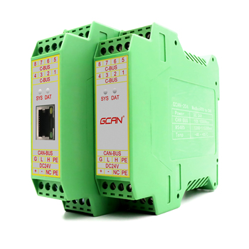 GCAN-205 CAN-Bus and ethernet converter integrated Modbus TCP/ RTU slave protocol convert data between CAN-Bus and Modbus TCP. can bus repeater with canopen ethernet gateways ethernet to can converter wireless data transmitter for sale