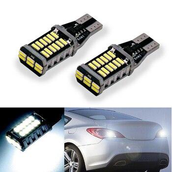2x T15 W16W LED 4014 Chip Canbus backup reverse light lamp For Hyundai ix20 ix35 ix55 Matrix Santa FeII Tucson Veloster Solaris