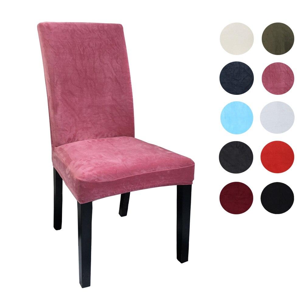 Airldianer Чехлы для стула бархатные стрейч Чехлы для столовой сплошной цвет спандекс плюшевое кресло чехлы протектор для дома столовой