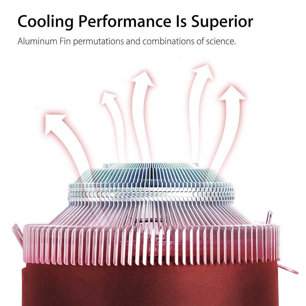 Dissipatore di calore della CPU del dispositivo di Raffreddamento del Radiatore Di Raffreddamento Ventola di raffreddamento per Intel LGA 1150 1155 1156 775 1366 AMD AM2 AM2 + AM3 AM3 + AM4 3 Spille RGB CPU del dispositivo di Raffreddamento