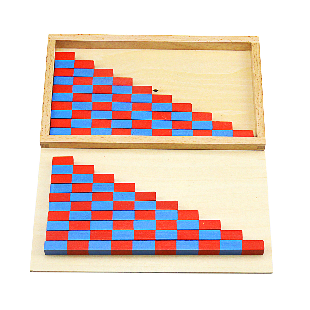 Wooden Montessori Math Toy Number Rods Toys With Wooden Box Ditigals 1-10 Educational Games Kids Learning Preschool Wooden Toys