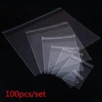 100 stücke Mehrere Größe Klar Self-adhesive Cello Cellophan Bag Selbst Dicht Kleine Kunststoff Taschen Für Süßigkeiten Verpackung Wiederverschließbaren tasche