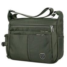 Casual men's shoulder messenger bag splash-proof nylon shoul