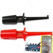 1 Pair Single Hook Clip Test Probe Mini Grabber For Multimeter