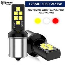 2 шт 1156 BA15S P21W BAU15S PY21W светодиодный лампы 3030 T20 7440 W21W 7443 1157 BAY15D светодиодный светильник для Автомобильный поворотный сигнал стоп-сигналы