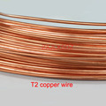 Провод T2 из чистой меди, проводящий твердый провод, тонкий внешний диаметр 0,2, 0,3, 0,4, 0,5, 0,6, 0,8, 1, 1,2, 1,5, 2, 2,5, 3, 4, 5 мм