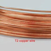 T2 condutor de fio de cobre puro sólida fino fio de Diâmetro Exterior 0.2 0.3 0.4 0.5 0.6 0.8 1.2 1.5 2 1 2.5 3 4 5mm