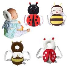 Новый + бренд + милый + ребенок + младенец + малыш + новорожденный + голова + спина + протектор + безопасность + накладка + ремень + головной убор + мультфильм + ребенок + голова + защита + накладка