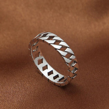 Ring hollow 925 Sterling Silver Thai silver for men and women Christmas gift fine jewelry Creative simple smooth Ring