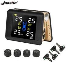 цена на Jansite TPMS Wireless Car Tire Pressure Monitoring Intelligent System Solar Power Big LED Display with Built-in/External Sensor